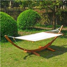 Cama de rede baloiço de madeira de 205x150...