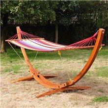 Cama de rede baloiço de madeira de 200x100...
