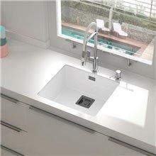 Lava-louças de 1 pia branco 50 x 45 cm Zie Poalgi