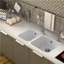 Lava-louças de 1 pia Branco 38 x 44,5 cm Gandia...