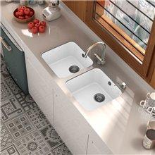 Lava-louças de 1 pia Branco 44 x 44,5 cm Gandia...