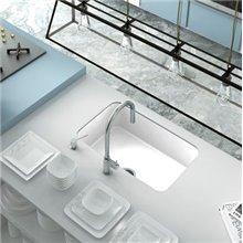 Lava-louças de 1 pia Branco 74 x 44,5 cm Gandia...