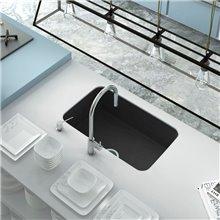 Lava-louças de 1 pia Preto Liso 74 x 44,5 cm...