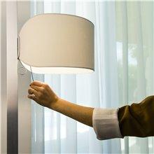 Lámpara pie aluminio y blanco STAND UP 20W