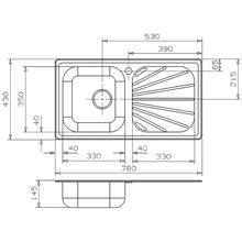 Lava-louças Beta 10 BAP retangular - GALINDO