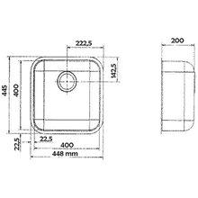 Lava-louças Especial IB 40x40 quadrado - GALINDO