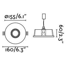 Lámpara empotrable NEU blanca y redonda Ø15,5cm
