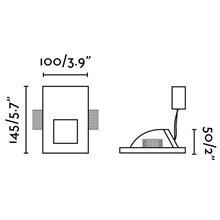Lámpara empotrable PLAS-3 LED blanca 10x14,5cm