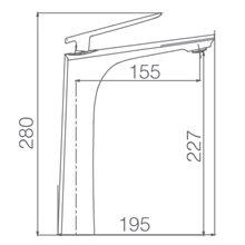 Torneira cano alto lavatório cromado Escocia - IMEX