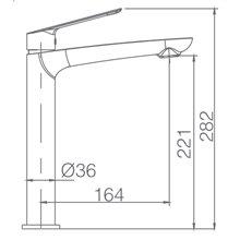 Torneira de cano alto de lavatório cromado Luxor - IMEX