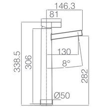 Torneira lavatório de cano alto cromado/preto Elba - IMEX