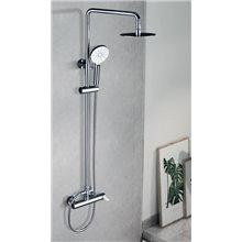 Coluna de duche cromado/branco Elba - IMEX