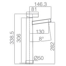 Torneira lavatório de cano alto cromado/branco Elba - IMEX