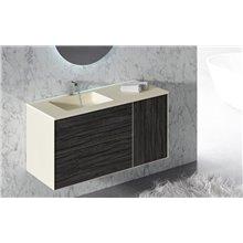 Móvel com lavatório e espelho metálico ARKANSAS DOCCIA
