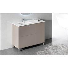 Móvel com lavatório e espelho fenólico LOIRA - DOCCIA