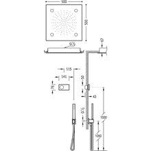 Kit de duche termostático eletrónico TRES