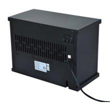 Lareira elétrica de pé preta de 34x17x25 cm -...