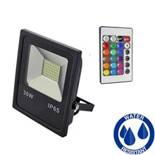 Projetor LED quadrado 30W PLANO RGB - MasterLed