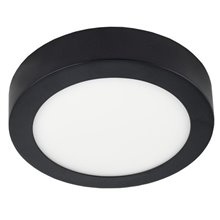 Plafon LED redondo Ø22x4cm 18W preto - MasterLed