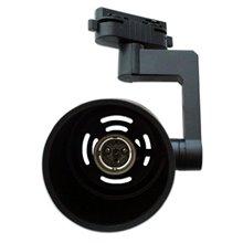 Foco carril cilíndrico E27 preto - MasterLed