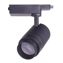 Foco LED carril ajustável 30W preto - MasterLed