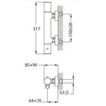 Torneira termostática duche Manacor Teka Futurbaño