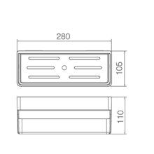 Estante de PVC retangular branca - IMEX