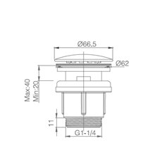 Válvula de esgoto cromada  - IMEX