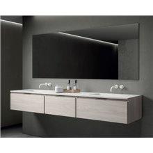 Móvel Life 151 cm com 3 gavetas com lavatório B10