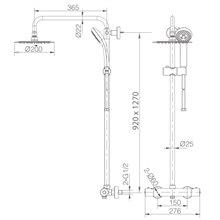 Conjunto de duche termostático Kent - IMEX