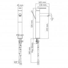 Torneira monocomando alta para lavatório DELTA 07 - Griferías MR