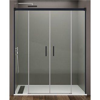 Painel frontal de duche 2 portas de correr BASIC NEGRO - GME