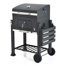 Barbecue com rodas e prateleiras Outsunny