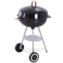 Barbecue circular com tampa Outsunny