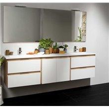 Móvel Life 4 gavetas com módulo central e 2 lavatórios B10