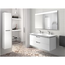 Móvel 120cm branco e lavatório Kalahari Roca