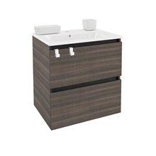 Móvel com lavatório de porcelana retangular 60 cm Fresno B-Box BATH+