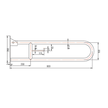 Barra de apoio de segurança rebatível - OXEN