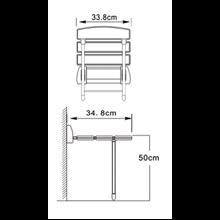 Assento de duche rebatível com patas - OXEN