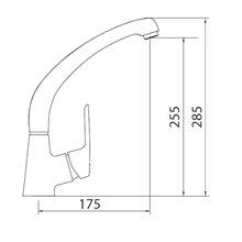 Torneira curva para lava-louças Elegance - CLEVER
