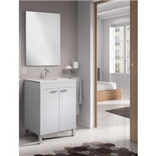 Móvel com lavatório e espelho BRANCO PURO...