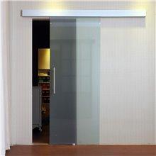 Porta de correr de vidro acetinado - HOMCOM