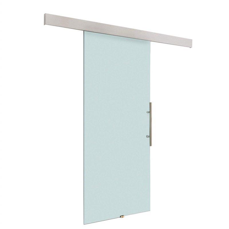 Porta de correr de vidro translúcido - HOMCOM