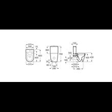 Sanita tanque baixo Inspira Round compacto 60cm Roca