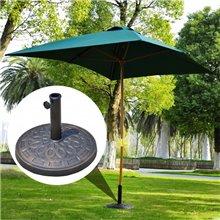 Base de chapéu de sol circular cor bronze Outsunny