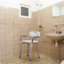 Tamborete de casa de banho ajustável com...