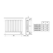 Radiador 10 Elementos Europa-C 800 - FERROLI