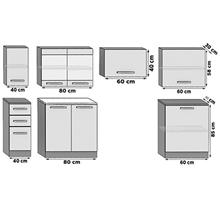 Cozinha 240 cm branco e cinzento Uniqa - TARRACO