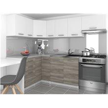 Cozinha 360 cm branco e cinzento Lidia - TARRACO