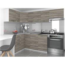 Cozinha 360 cm cinzento Lidia - TARRACO